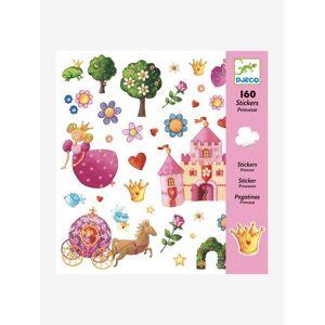 DJECO 160 autocolantes Princesa, da DJECO rosa claro liso com motivo