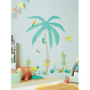 Autocolante gigante, tema Ilha exótica multicolor