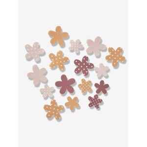 Autocolantes de parede com flores em volume rosa claro bicolor/multicolor