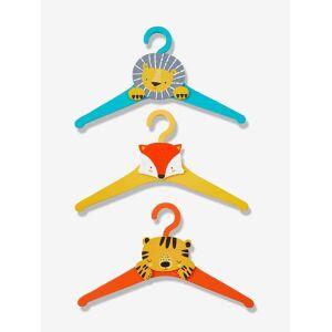 Lote de 3 cruzetas Animais laranja medio liso