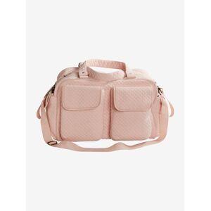 Saco de mudas Week-end da VERTBAUDET rosa claro liso