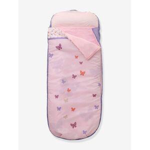 Saco-cama tudo-em-um com colchão integrado, para menina rosa claro liso com motivo