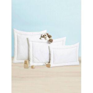 Almofada em algodão bio*, Coleção Bio branco claro liso