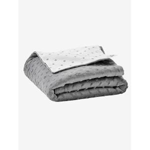 Cobertor biface em polar/moletão, para bebé, Stella cinzento escuro liso
