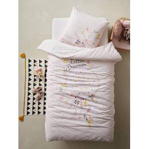 Conjunto capa de edredon + fronha de almofada para criança, tema Little Dreamer violeta medio liso com motivo