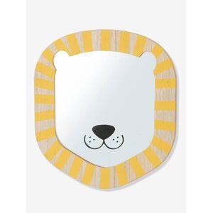 Espelho Leão bege claro liso com motivo