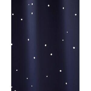 Cortina opaca azul escuro liso
