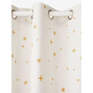 Cortina opaca com estrelas branco medio estampado