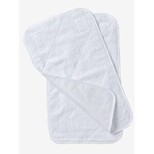 Lote de 2 tapetes para colchão branco