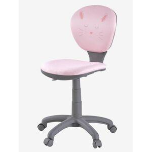Cadeira de secretária com rodas rosa/coelho