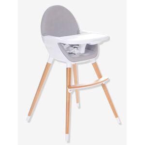 Cadeira alta evolutiva em 2 alturas, TopSeat cinzento claro liso