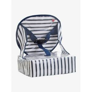 Assento elevatório para cadeira Easy up da BABY TO LOVE azul escuro as riscas