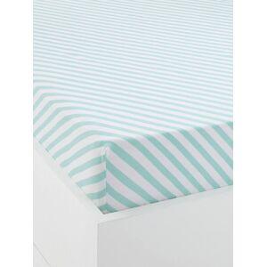 Lençol-capa para bebé, tema Jungle party verde / branco