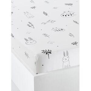 Lençol-capa para bebé, tema Floresta Mágica branco claro estampado