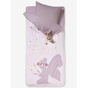 VERTBAUDET Conjunto pronto-a-dormir sem edredon, tema Fada rosa claro liso com motivo