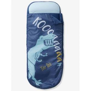 VERTBAUDET Saco-cama Readybed® com colchão integrado, tema Dinossauros azul escuro liso com motivo