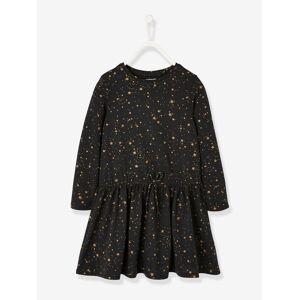 Vestido estampado, para menina preto escuro estampado
