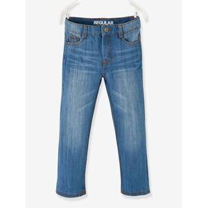 VERTBAUDET Jeans direitos indestrutíveis, para menino azul escuro desbotado