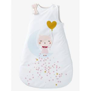 Saco de bebé sem mangas, tema Luar branco estampado