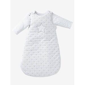 Saco de bebé com mangas amovíveis, tema Chuva de estrelas branco/estrelas