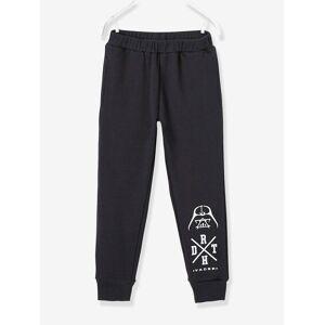 Calças em moletão para menino Star Wars® preto escuro liso com motivo