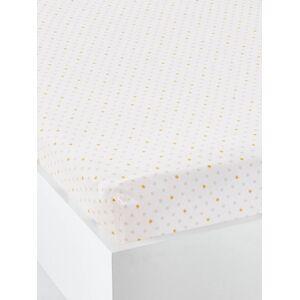 Lençol-capa para bebé, tema Sonhar com as estrelas branco claro estampado