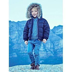 Blusão para menino com forro polar marinho