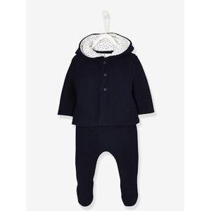 Conjunto Presente para recém-nascido, com 3 peças azul escuro liso