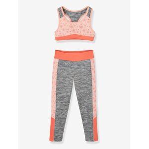 Conjunto de desporto top + leggings, para menina cinzento medio mesclado