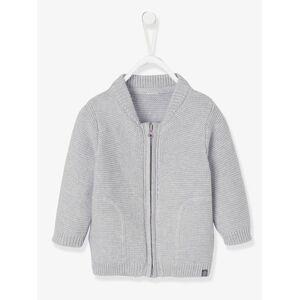 Casaco em tricot ponto de liga, para bebé menino cinzento claro mesclado