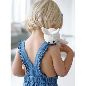 Vestido com folhos nas alças, para bebé menina azul claro desbotado