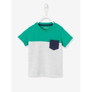 T-shirt com 3 cores, para bebé menino verde vivo liso com motivo