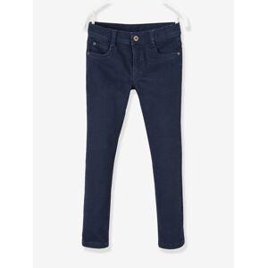 Calças slim para menino, morfológicas, medida das ancas ESTREITA azul escuro liso