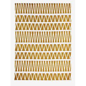 Tapete gráfico amarelo estampado