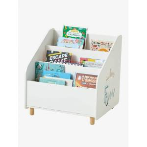 VERTBAUDET Estante-biblioteca Funny branco claro liso com motivo