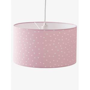 Abajur de teto, Estrelas rosa claro liso com motivo