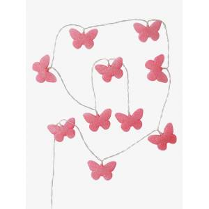 Grinalda luminosa borboletas com purpurinas rosa