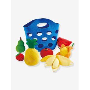 HAPE Cesto de frutas em tecido da HAPE azul medio liso com motivo