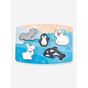 HAPE Puzzle tátil animais polares da HAPE azul vivo estampado