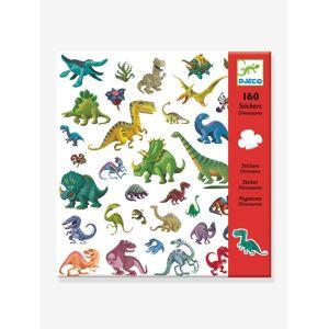 DJECO 160 autocolantes Dinossauros, da DJECO verde medio liso com motivo