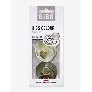 BIBS Lote de 2 chupetas, da BIBS Colour, tamanho 2, dos 6 aos 18 meses verde claro bicolor/multicolor
