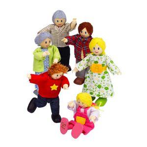HAPE Família de 6 bonecas em madeira, Hape multicolor