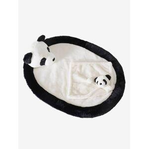 VERTBAUDET Conjunto tapete de atividades + boneco doudou Panda. preto vivo bicolor/multicolor