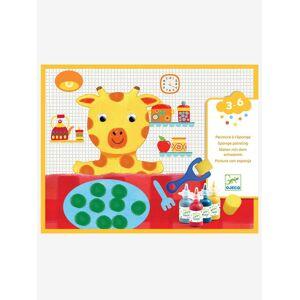 DJECO Pintura com esponja «As aventuras dos bonecos», da DJECO laranja medio liso com motivo