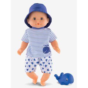 COROLLE Boneco bebé banho menino, Corolle azul escuro liso com motivo