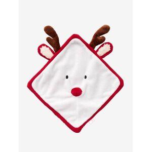 Boneco Rena de Natal vermelho-claro liso