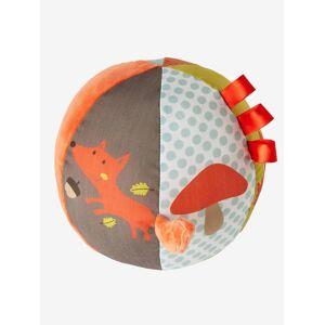 Bola de atividades raposa laranja-escuro liso com decora