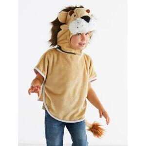 Disfarce de leão, para criança bege claro liso com motivo