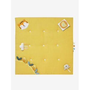 Tapete de atividades suave, sem arco, Tropik amarelo medio liso com motivo