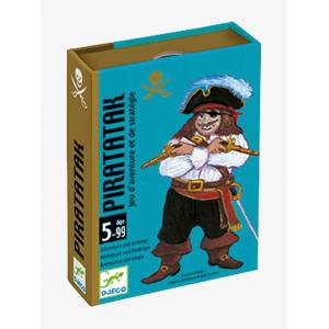 DJECO Jogo de cartas Piratak, da DJECO azul medio liso com motivo